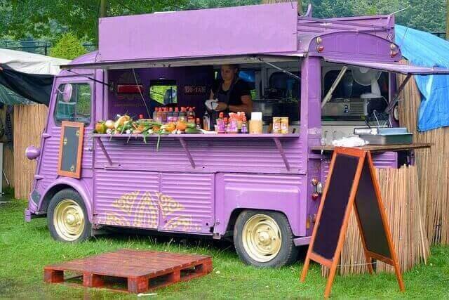 Foodtruck op foodfestival